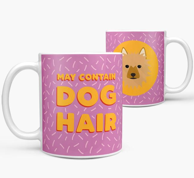 'May Contain Dog Hair' - Personalized Australian Terrier Mug