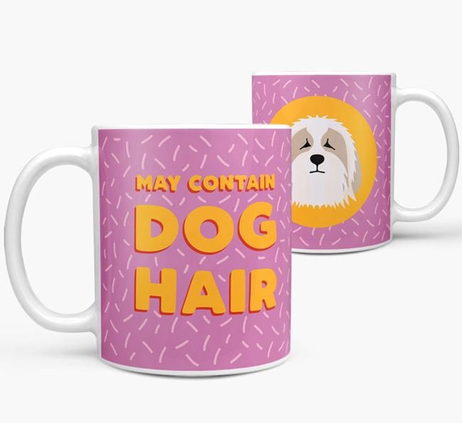 'May Contain Dog Hair' - Personalized Bearded Collie Mug