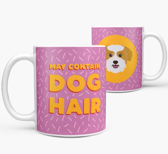 'May Contain Dog Hair' - Personalized Bichon Yorkie Mug