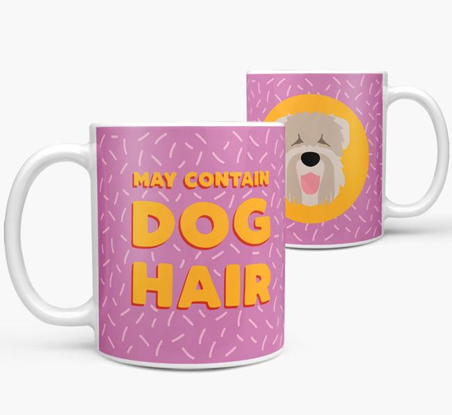 'May Contain Dog Hair' - Personalized Black Russian Terrier Mug
