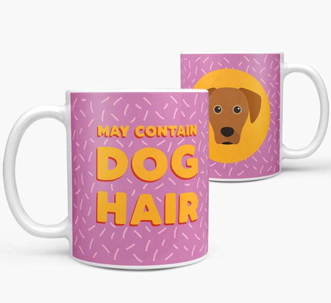 'May Contain Dog Hair' - Personalized Blue Lacy Mug