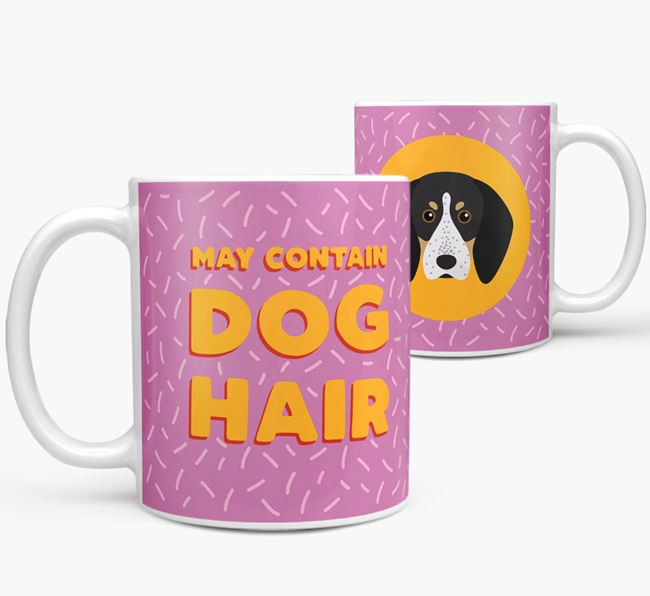 'May Contain Dog Hair' - Personalized Bluetick Coonhound Mug