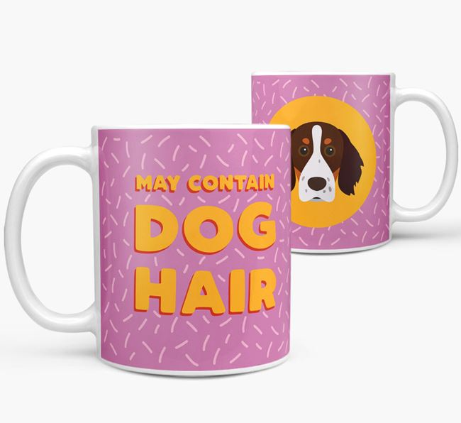 'May Contain Dog Hair' - Personalized Brittany Mug