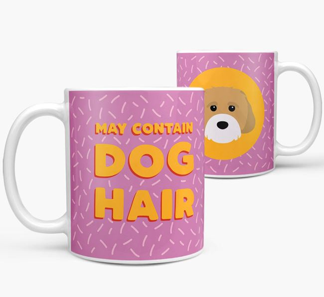 'May Contain Dog Hair' - Personalized Cavachon Mug