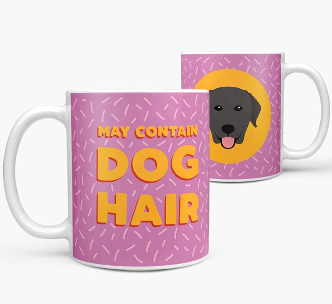 'May Contain Dog Hair' - Personalized Curly Coated Retriever Mug