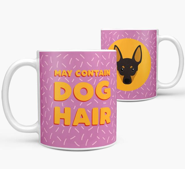 'May Contain Dog Hair' - Personalized English Toy Terrier Mug