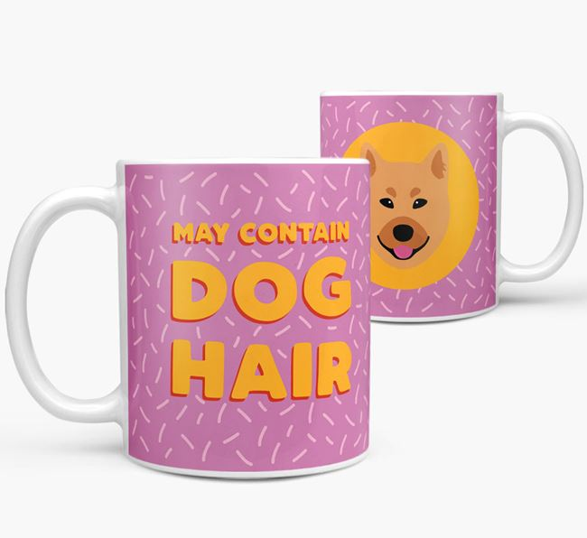 'May Contain Dog Hair' - Personalized Finnish Spitz Mug
