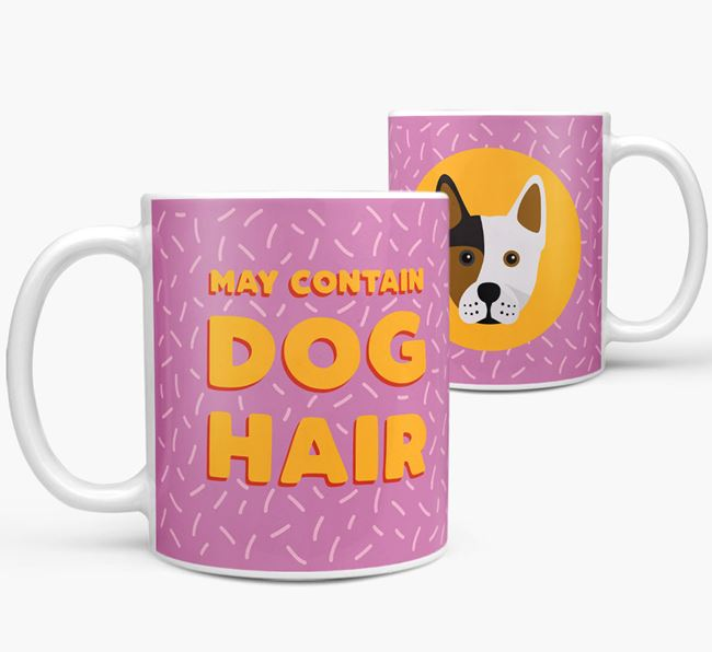 'May Contain Dog Hair' - Personalized Frenchie Staff Mug