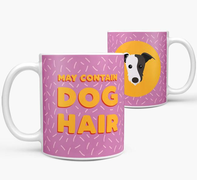 'May Contain Dog Hair' - Personalized Lurcher Mug
