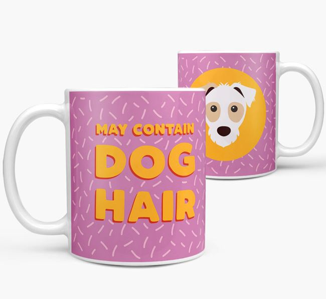 'May Contain Dog Hair' - Personalized Parson Russell Terrier Mug