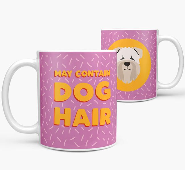 'May Contain Dog Hair' - Personalized Soft Coated Wheaten Terrier Mug