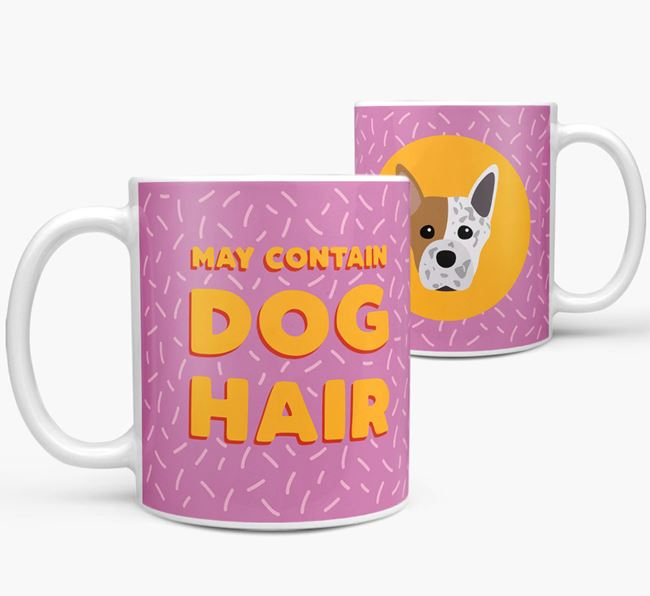 'May Contain Dog Hair' - Personalized Staffordshire Bull Terrier Mug