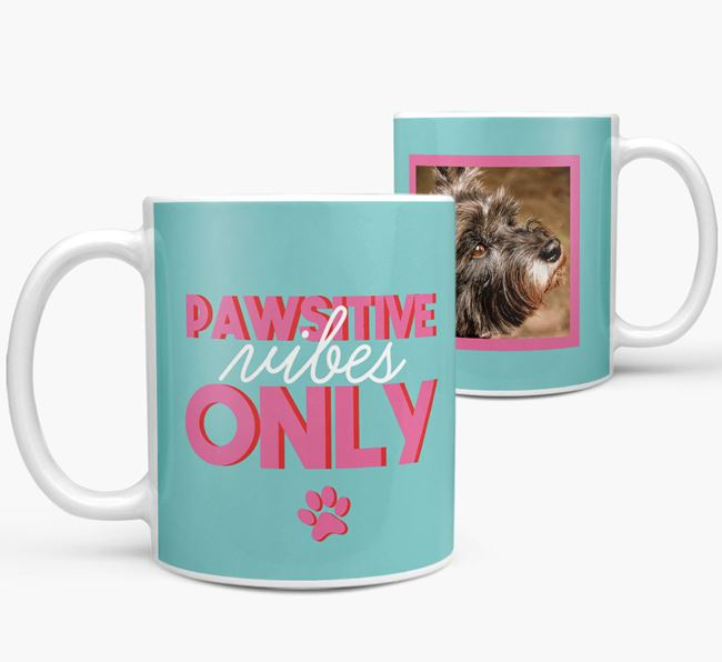 'Pawsitive Vibes Only' - Personalized Cairn Terrier Mug