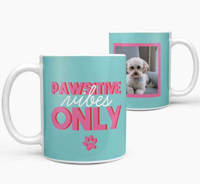 'Pawsitive Vibes Only' - Personalized Cavapoo Mug