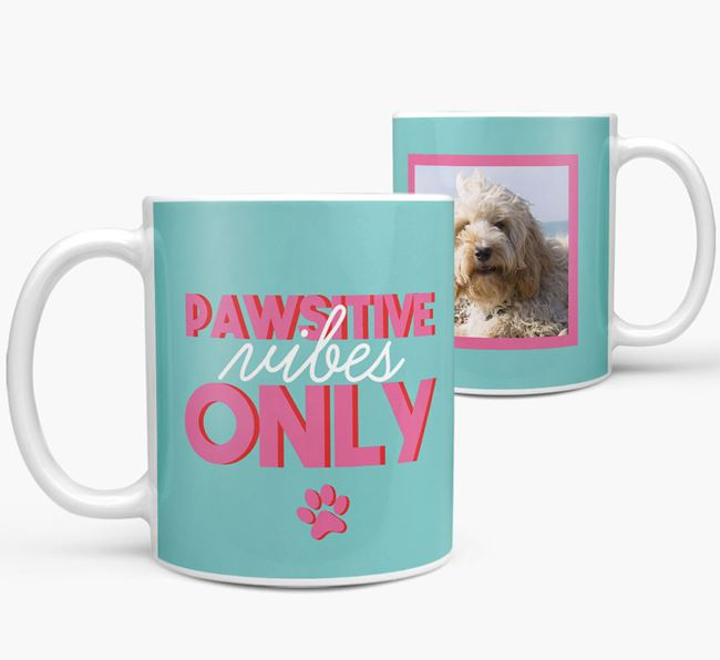 'Pawsitive Vibes Only' - Personalized Cockapoo Mug