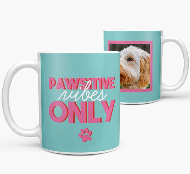 'Pawsitive Vibes Only' - Personalized Goldendoodle Mug