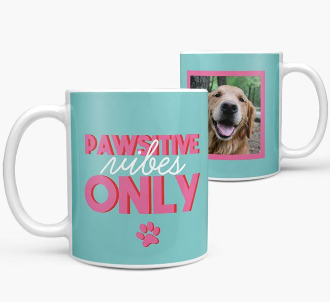 'Pawsitive Vibes Only' - Personalized Golden Retriever Mug