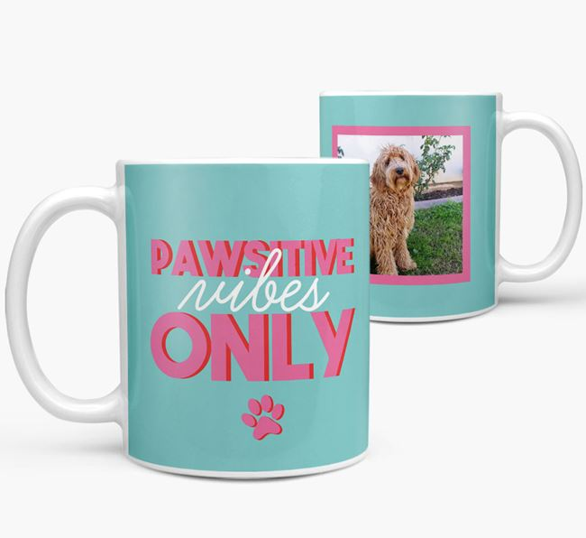 'Pawsitive Vibes Only' - Personalized Labradoodle Mug