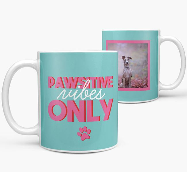 'Pawsitive Vibes Only' - Personalized Lurcher Mug