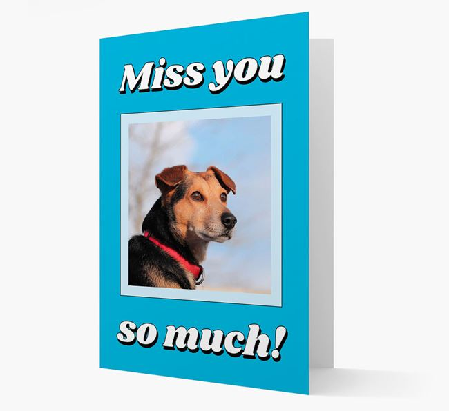 'Miss You So Much' - Personalised Bassador Card