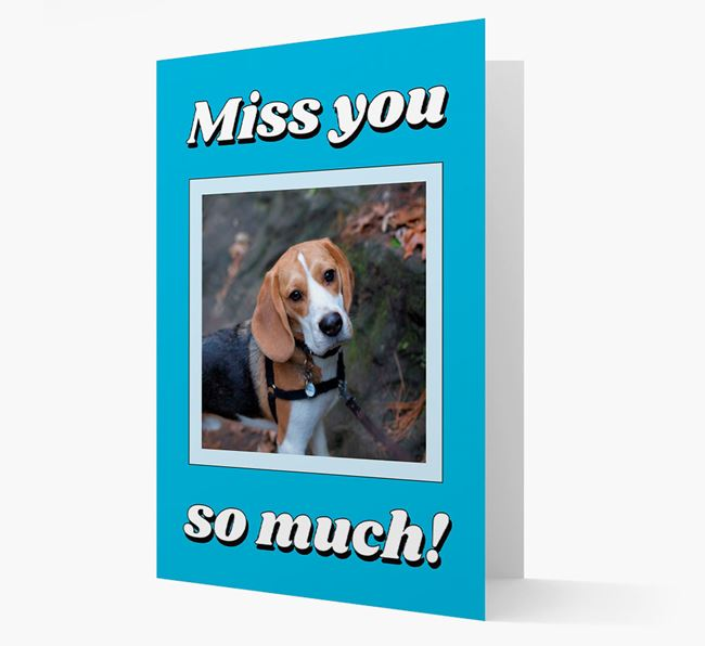 'Miss You So Much' - Personalised Beagle Card