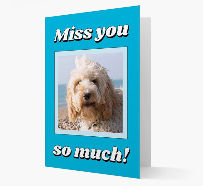 'Miss You So Much' - Personalised Cockapoo Card