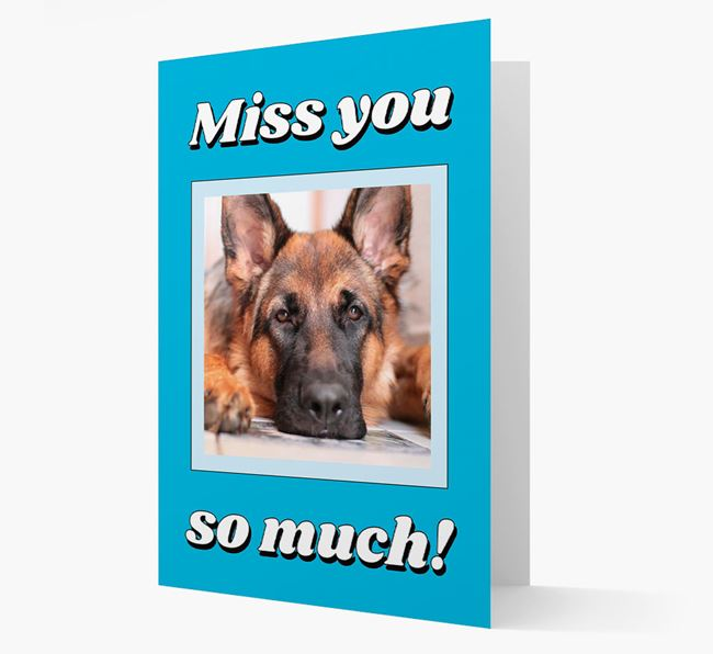 'Miss You So Much' - Personalised Dog Card