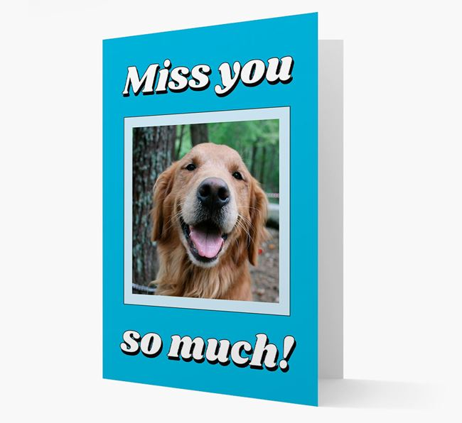 'Miss You So Much' - Personalised Golden Retriever Card