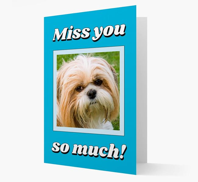 'Miss You So Much' - Personalised Shih Tzu Card