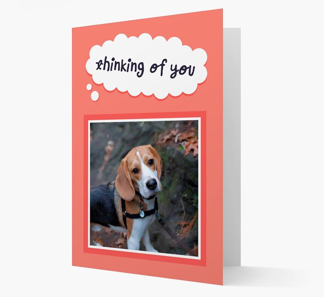 'Thinking Of You' - Personalised Beagle Card
