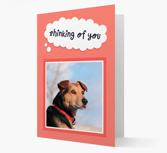 'Thinking Of You' - Personalized Bearded Collie Card