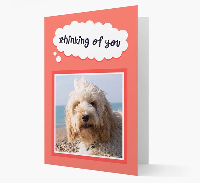 'Thinking Of You' - Personalized Cockapoo Card