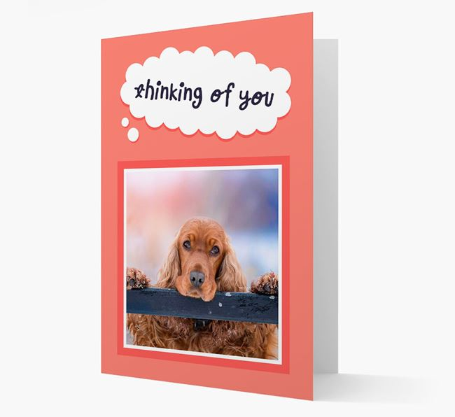 'Thinking Of You' - Personalized Cocker Spaniel Card