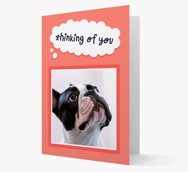 'Thinking Of You' - Personalized French Bulldog Card