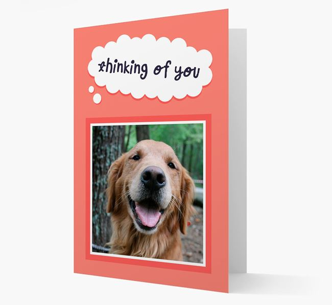 'Thinking Of You' - Personalized Golden Retriever Card