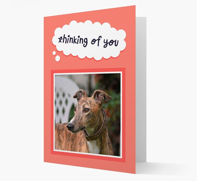 'Thinking Of You' - Personalized Greyhound Card