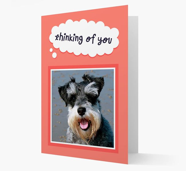 'Thinking Of You' - Personalised Schnauzer Card