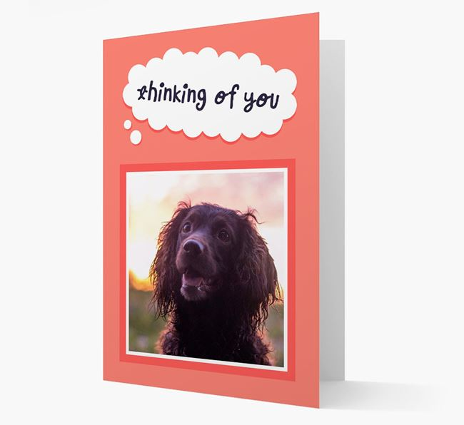 'Thinking Of You' - Personalized Sprocker Card