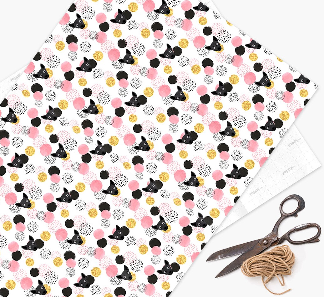 Chi Staffy Bull Icon Pink Wrapping Paper