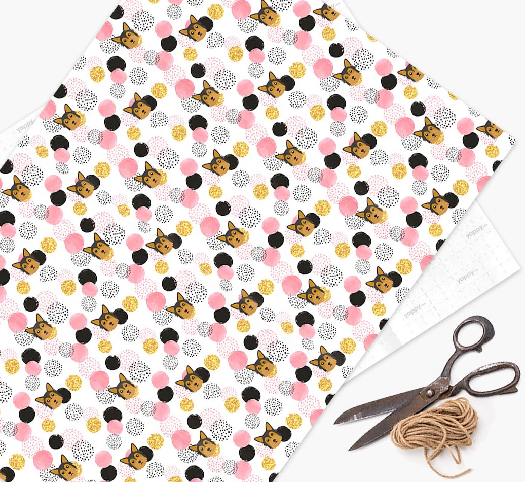 Chorkie Icon Pink Wrapping Paper