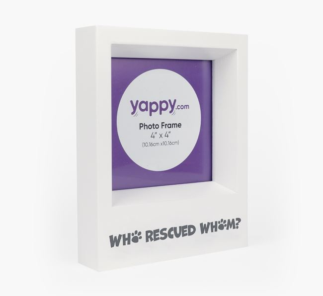 'Who Rescued Whom' - Personalised Cat Photo Frame