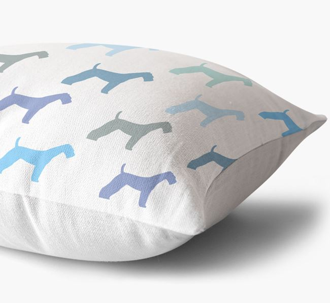 Airedale Silhouette Pattern Cushion