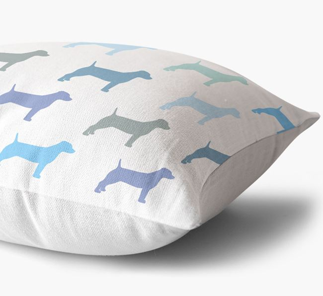 Dog Silhouette Pattern Cushion