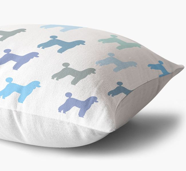 Poodle Silhouette Pattern Cushion