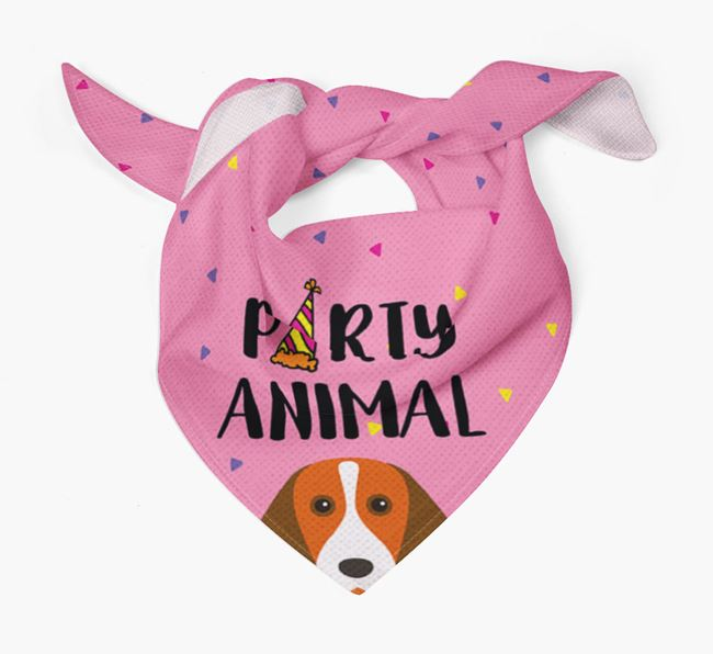 'Party Animal' Beagle Bandana