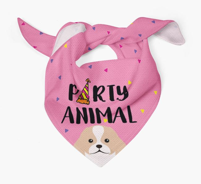 'Party Animal' Japanese Chin Bandana
