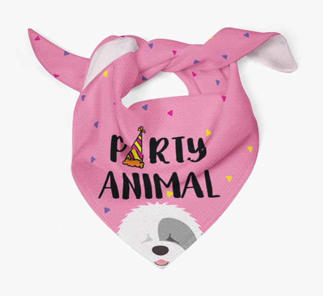 'Party Animal' Sheepdog Bandana