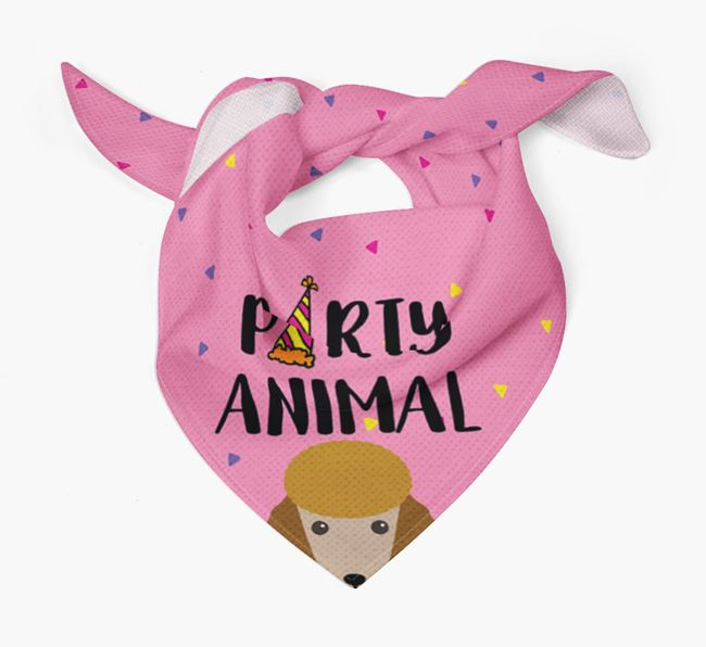 'Party Animal' Poodle Bandana