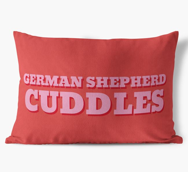 'Dog Cuddles' - Personalized Dog Soft Touch Pillow