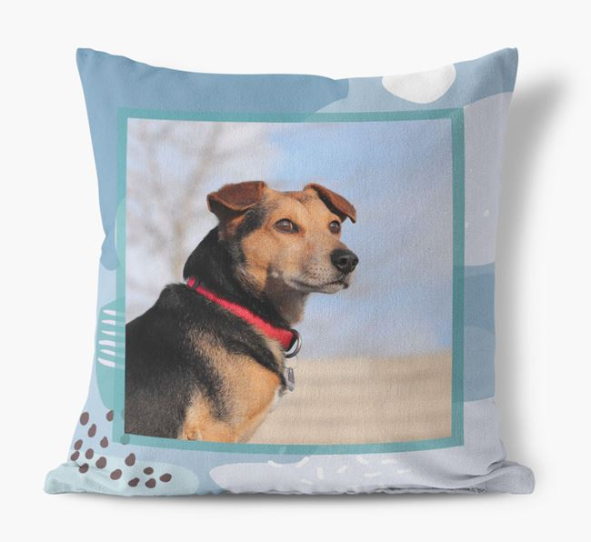 'Abstract Pattern' - Personalized Dog Photo Upload Pillow